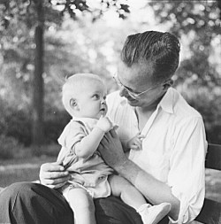 Photo, father and child